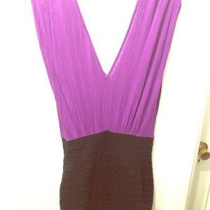 Purple and black bodycon dress